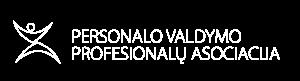 PVPA logo baltas linijinis šoninis